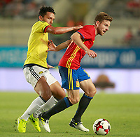 Spain's Asier Illarramendi (r) and Colombia's Abel Aguilar during international friendly match. June 7,2017.(ALTERPHOTOS/Acero)