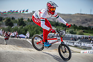 Men Elite #697 (BUJAKI Bence) HUN the 2018 UCI BMX World Championships in Baku, Azerbaijan.