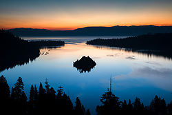 """Emerald Bay Sunrise 12"" - Photograph of Lake Tahoe's Emerald Bay shot at sunrise."