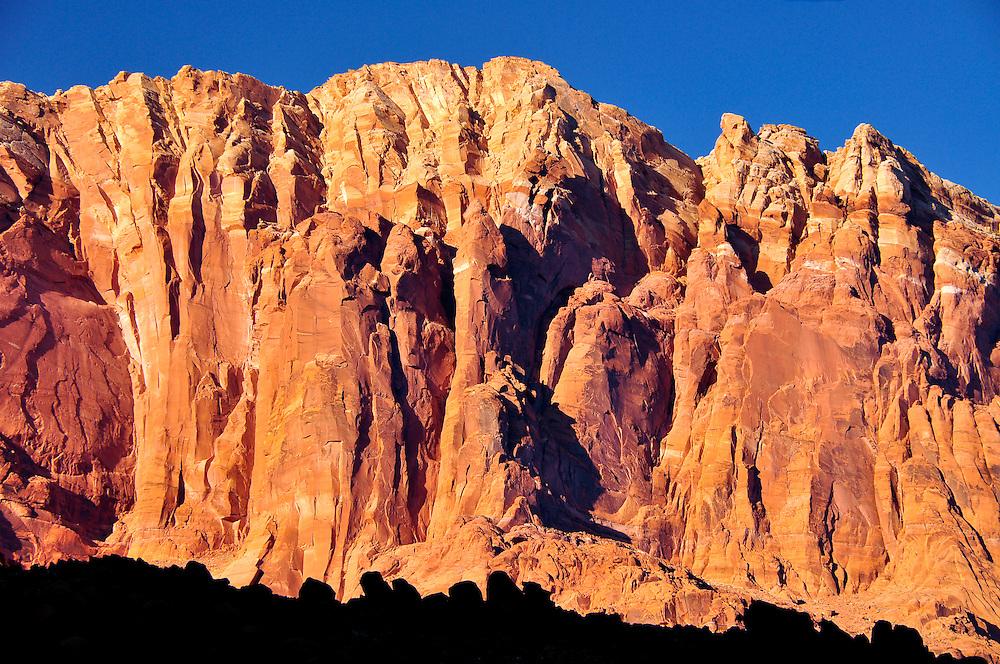 Canyon wall in Arizona's Paria Canyon - Vermilion Cliffs Wilderness.