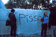 A man taking a piss, Quart festival, Kristiansands Norway 2000