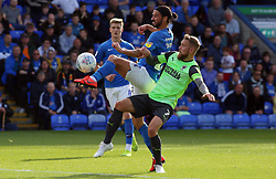 George Boyd of Peterborough United in action with Scott Wagstaff of AFC Wimbledon - Mandatory by-line: Joe Dent/JMP - 28/09/2019 - FOOTBALL - Weston Homes Stadium - Peterborough, England - Peterborough United v AFC Wimbledon - Sky Bet League One