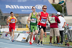 16 / 06 / 2016,  Conor McIlveen (Derry, Co. Derry), F38 class, City of Derry AC pictured competing in the 800m T38 at the 2016 IPC Athletics European Championships in Grosseto, Italy