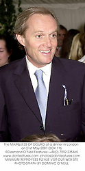 The MARQUESS OF DOURO at a dinner in London on 21st May 2001.OOK 116