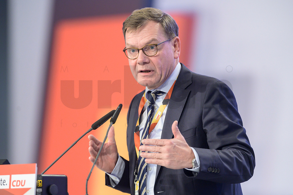 22 NOV 2019, LEIPZIG/GERMANY:<br /> Johann Wadephul, MdB, CDU, haelt eine Rede, CDU Bundesparteitag, CCL Leipzig<br /> IMAGE: 20191122-01-269<br /> KEYWORDS: Parteitag, party congress