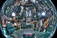 B-24 Navigator and Radio operators bay