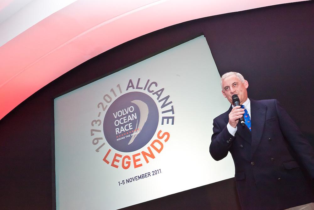 SPAIN, Alicante. 3rd November 2011. Volvo Ocean Race Legends Regatta Prizegiving. Chris McLaughlin, Vice President, Inmarsat.