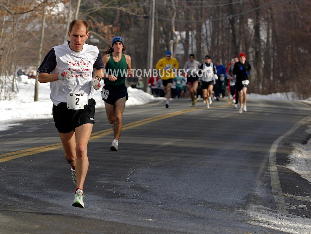 POCATELLO, N.Y. - Runners compete in the Jingle Jog road race in Pocatello, N.Y., on Dec. 11, 2005.