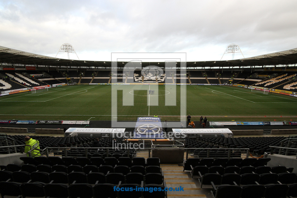 Picture by Richard Gould/Focus Images Ltd. 07710 761829.07/01/12.View of the East Stand upper level of the KC Stadium, Hull.