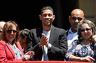 CAPE TOWN, SOUTH AFRICA - OCTOBER 17: Wayde van Niekerk, 400m world champion, Rio2016 Olympic champion and 400m world record holder during the Cape Town celebrates our 2016 Olympic Athletes event at Green Point Athletics Track on October 17, 2016 in Cape Town, South Africa. (Photo by Roger Sedres/Gallo Images)