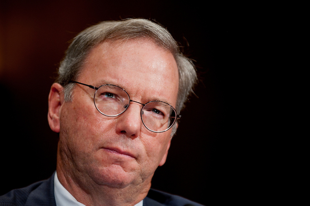 "ERIC SCHMIDT, executive chairman of Google Inc. testifies before a Senate Antitrust, Competition Policy and Consumer Rights Subcommittee hearing on ""The Power of Google: Serving Consumers or Threatening Competition?"""