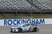 #1 Ashley Sutton Adrian Flux BMR Subaru Racing Subaru Levorg GT during BTCC Race 1  as part of the Dunlop MSA British Touring Car Championship - Rockingham 2018 at Rockingham, Corby, Northamptonshire, United Kingdom. August 12 2018. World Copyright Peter Taylor/PSP. Copy of publication required for printed pictures.