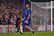 Chelsea Olivier Giroud (18) shows his frustration at his near miss during the EFL Cup semi final second leg match between Chelsea and Tottenham Hotspur at Stamford Bridge, London, England on 24 January 2019.