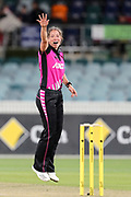 Holly Huddleston appeals for LBW. Women's T20 international Cricket, Australia v New Zealand White Ferns.  Manuka Oval, Canberra, 5 October 2018. Copyright Image: David Neilson / www.photosport.nz