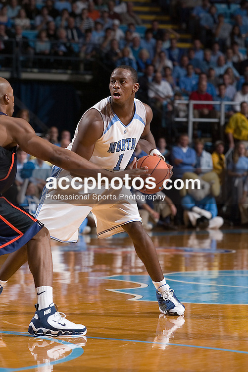 29 November 2005: Marcus Ginyard (1) during an Illinois 68-64 victory over North Carolina in a 2005 NCAA title rematch in the Dean Smith Center in Chapel Hill, NC.