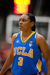 January 20, 2011; Stanford, CA, USA;  UCLA Bruins guard Darxia Morris (3) during the first half against the Stanford Cardinal at Maples Pavilion.  Stanford defeated UCLA 64-38.