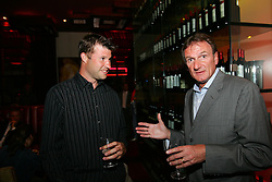 LIVERPOOL, ENGLAND - WEDNESDAY, JUNE 9th, 2005: Liverpool FC Legend Phil Thompson with Barry Cowen during the Players Party at the St Thomas Hotel during the 4th Liverbird Developments Liverpool International Tennis Tournament. (Pic by Dave Rawcliffe/Propaganda)