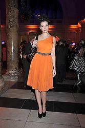 DAISY LOWE at Hats - an antology of Stephen Jones held at the V&A, London on 23rd February 2009.