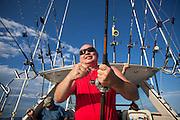 Charter fishing on Lake Michigan. (Photo by Mike Roemer)  RoemerPhoto.com