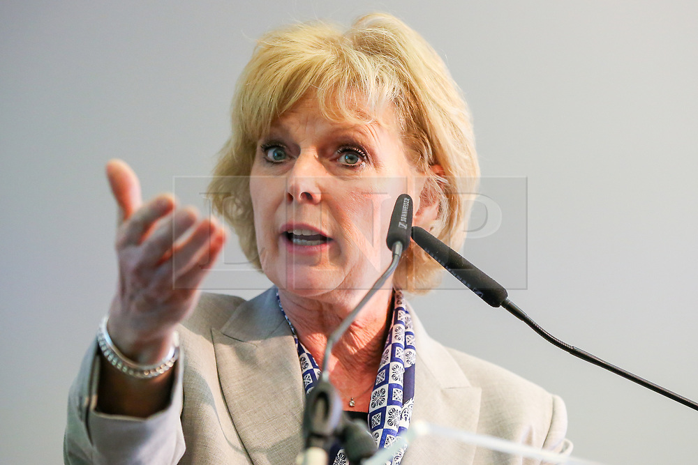 © Licensed to London News Pictures. 30/04/2019. London, UK. Anna Soubry, Brexit spokesperson speaking at the Change UK's People's Vote Remain rally for the European Elections in Westminster. Photo credit: Dinendra Haria/LNP