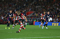 Football - 2019 / 2020 Premier League - Southampton vs. AFC Bournemouth<br /> <br /> Southampton's James Ward-Prowse scores from the penalty spot to pull a goal back at St Mary's Stadium Southampton<br /> <br /> COLORSPORT/SHAUN BOGGUST