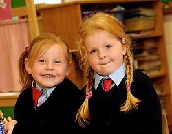 Danni Morrin-Cottrell and junior infant Quay School, Westport.<br />Pic Conor McKeown