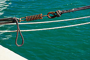 rusty maritime Securing spring and rope