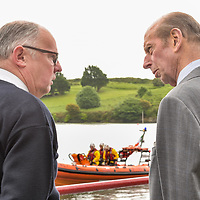 "REPRO FREE<br /> His Royal Highness the Duke of Kent talks to John O'Gorman, Lifeboat Operations Manager Kinsale RNLI while the lifeboat launches on a drill during a visit to Kinsale RNLI Lifeboat Station on Wednesday.<br /> Picture. John Allen<br /> <br /> Volunteer crew members of Kinsale RNLI  gave a warm welcome the His Royal Highness the Duke of Kent who made his first visit to the busy West Cork lifeboat station today (Wednesday 31 May).  The Duke has been Patron and President  of the RNLI,  the charity that saves lives at sea, since 1969.   He spent almost an hour meeting volunteers and hearing details of successful rescues by the Kinsale volunteers, including the Sean Anthony in April 2016 when three Portuguese fishermen were saved from a sinking trawler, and the evacuation of 30 people from the sailing vessel Astrid that foundered outside Kinsale Harbour in July 2013.  The Duke was introduced to Christopher Keane Hopcraft, one of the young people rescued from the Astrid, and Mrs Janet Rutherford who received medical attention and was brought to safety after she was injured on board a yacht.  Members of the local community were also invited to meet the Duke, including representatives of Kinsale's fishing fleet, along with RNLI volunteers from West Cork's newest station in Union Hall and representatives of the GAA, partners in the RNLI Respect the Water campaign that aims to halve the number of coastal deaths by 2024.<br /> <br /> The Duke said:<br /> <br /> Kinsale RNLI Lifeboat Operations Manager, John O'Gorman, said:  ""It was a honour and a privilege for us to meet the Duke who has provided unwavering support to the RNLI for almost half a century.  Our station on the Wild Atlantic Way is a long way from the RNLI HQ in Poole so we rarely get the opportunity to meet someone so close to the heart of the charity.  In that time he has visited the vast majority of lifeboat stations and we are delighted he chose to add Kinsale to that list.  He showed a great knowledge and understanding of our lifesaving work"
