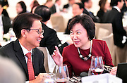 Dr. Ngee Huat Seek and Dr. Cheong Koon Hean, during the J.C. Nichols Prize dinner for Visionaries in Urban Development in Singapore on January 18, 2017.