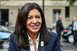 September 1, 2017 - Paris, France - The Mayor of Paris, Anne Hidalgo and the Rector of the Academie of Paris, Mr Gilles Pecout (not in picture) visite the Pierre Mendes France Highschool and the garden made by students in Paris, France, on 1st September 2017. (Credit Image: © Julien Mattia/NurPhoto via ZUMA Press)