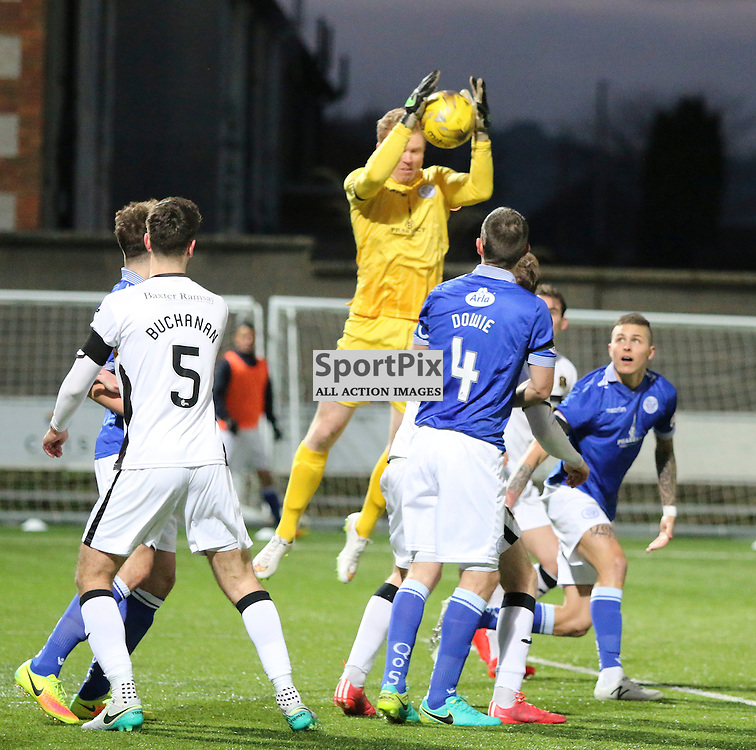 Lee Robinson comes to collect  during the Queen of the South v Dumbarton Scottish Championship 03 December2016 <br /> <br /> (c) Andy Scott | SportPix.org.uk