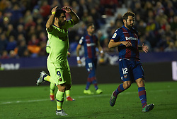December 16, 2018 - Valencia, Valencia, Spain - Luis Suarez of FC Barcelona during the La Liga match between Levante UD and FC Barcelona at Ciutat de Valencia Stadium on December 16, 2018 in Valencia, Spain. (Credit Image: © AFP7 via ZUMA Wire)