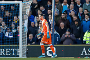 Leeds United goalkeeper Francisco Casilla (13)  during the EFL Sky Bet Championship match between Queens Park Rangers and Leeds United at the Kiyan Prince Foundation Stadium, London, England on 18 January 2020.