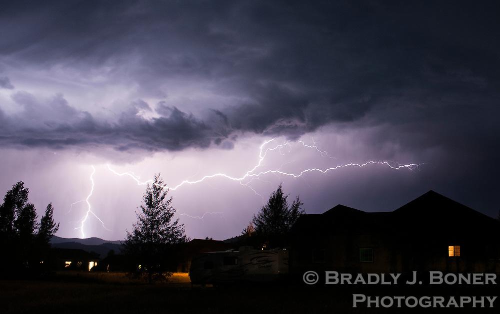 Approaching thunderstorm in Teton Valley, Idaho