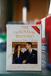 UK ENGLAND BERKSHIRE UPPER BUCKLEBURY 22MAR11 - Royal Wedding sticker album on sale at the Peaches Store in Upper Bucklebury, Berkshire, England. ..jre/Photo by Jiri Rezac..© Jiri Rezac 2011