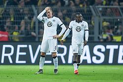 13.12.2015, Signal Iduna Park, Dortmund, GER, 1. FBL, Borussia Dortmund vs Eintracht Frankfurt, 16. Runde, im Bild Bastian Oczipka (Eintracht Frankfurt #6) und Constant Djakpa (Eintracht Frankfurt #15) // during the German Bundesliga 16th round match between Borussia Dortmund and Eintracht Frankfurt at the Signal Iduna Park in Dortmund, Germany on 2015/12/13. EXPA Pictures © 2015, PhotoCredit: EXPA/ Eibner-Pressefoto/ Schueler<br /> <br /> *****ATTENTION - OUT of GER*****