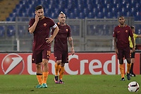 Delusione Totti, Nainggolan Roma Dejection <br /> Roma 20-10-2016  Stadio Olimpico <br /> Football Calcio Europa League AS Roma - Austria Wien <br /> Foto Andrea Staccioli / Insidefoto
