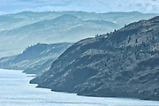 Hills around Kamloops Lake. Thompson Valley, Kamloops, British Columbia, Canada