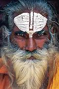 A sadhu, or holy man, Thamel, Kathmandu, Nepal