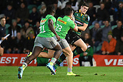 Northampton Saints fly half James Grayson (10) runs with the ball during the Gallagher Premiership Rugby match between Northampton Saints and Harlequins at Franklins Gardens, Northampton, United Kingdom on 1 November 2019.