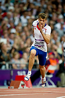 LONDON OLYMPIC GAMES 2012 - OLYMPIC STADIUM , LONDON (ENG) - 08/08/2012 - PHOTO : VINCENT CURUTCHET / KMSP / DPPI<br /> ATHLETICS - MEN'S 200M - CHRISTOPHE LEMAITRE (FRA)