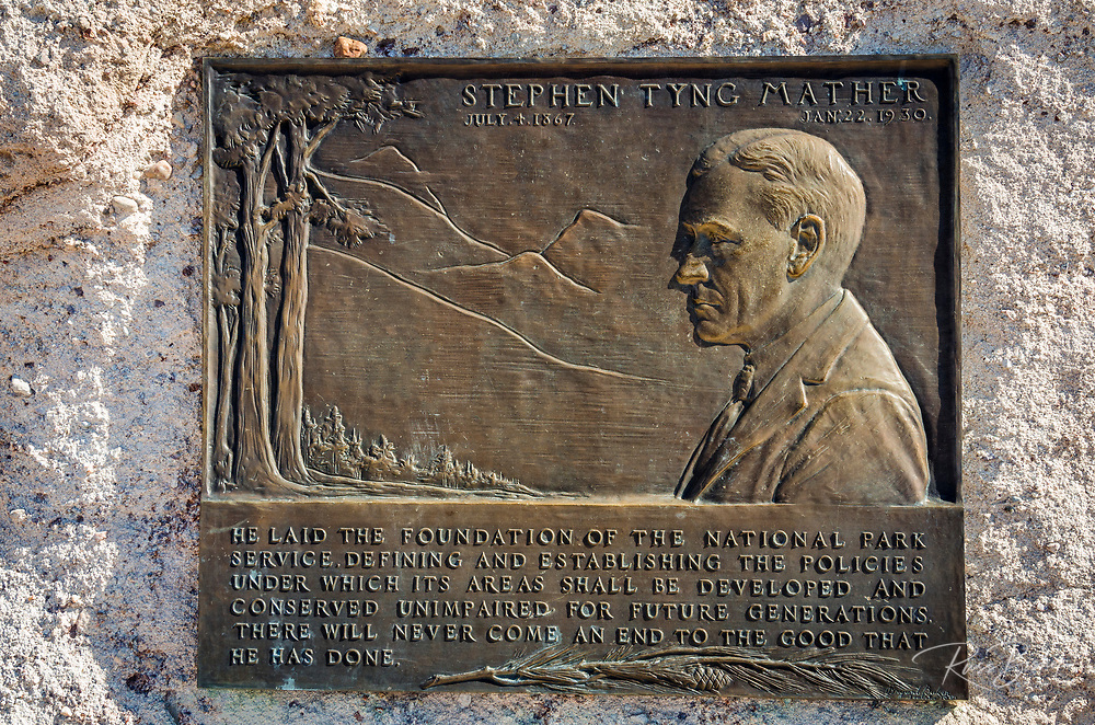 Stephen Mather plaque, Petrified Forest National Park, Arizona USA