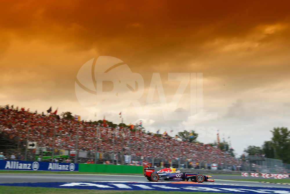 O piloto alemão Sebastian Vettel, da Red Bull durante no GP de Fórmula 1 da Itália, disputado no circuito de Monza, neste domingo (08). (Foto: Pixathlon / Brazil Photo Press).