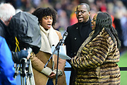 A choir pays tribute to Cyrille Regis during the Premier League match between West Bromwich Albion and Southampton at The Hawthorns, West Bromwich, England on 3 February 2018. Picture by Dennis Goodwin.