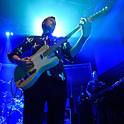 WASHINGTON, DC - March 10th  2013 -  David Maclean, Vincent Neff and Jimmy Dixon of Django Django perform at the 9:30 Club in Washington, D.C. The band's self-titled debut album has earned plaudits from The Guardian, Rolling Stone and the NME. (Photo by Kyle Gustafson/For The Washington Post)