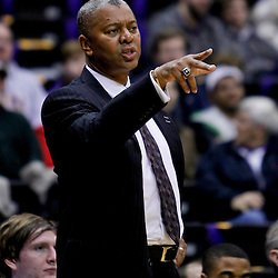 Jan 16, 2013; Baton Rouge, LA, USA; LSU Tigers head coach Johnny Jones against the South Carolina Gamecocks during the first half of a game at the Pete Maravich Assembly Center. Mandatory Credit: Derick E. Hingle-USA TODAY Sports
