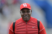 Apr 19, 2019; Torrance, CA, USA; Houston Cougars assistant coach Carl Lewis during the 61st Mt. San Antonio College Relays at El Camino College.