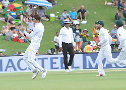 Pretoria 26-12-18. The 1st of three 5 day cricket Tests, South Africa vs Pakistan at SuperSport Park, Centurion. Day 1. Afternoon session. Pakistan bowler Shaheen Afridi celebrates the wicket he took of South African Faf du Plessis .<br /> Picture: Karen Sandison/African News Agency(ANA)