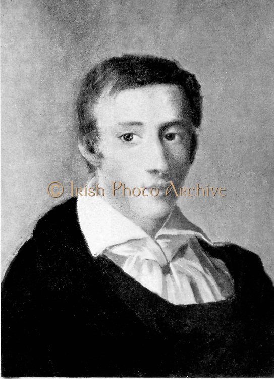Frédéric François Chopin, 1810 - 1849), Polish composer and pianist. portrait dated 1829 of the young Chopin by Mieroszewski Ambro?y (1802-1884)