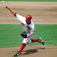 18 July 2007:  Washington Nationals pitcher Jon Rauch (51) pitches in the 8th inning against the Houston Astros.  The Nationals defeated the Astros 7-6 at RFK Stadium in Washington, D.C.  ****For Editorial Use Only****